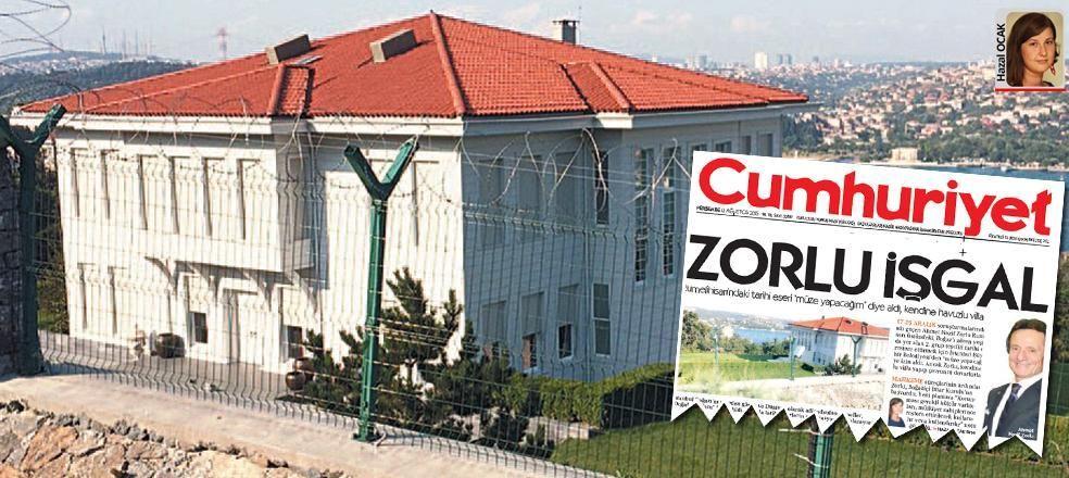 Müze yapacağım deyip tarihi binayı kendine villa yapan Zorlu'ya dava