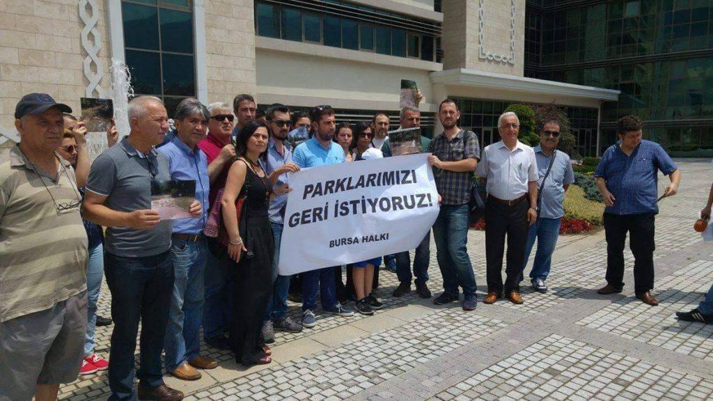 Bursa Halkı: 'Parklarımızı istiyoruz!'