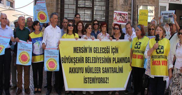 """Mersinli'lerden Belediyeye: """"Çevre Planı'nda Akkuyu'yu işaretlemeyin"""""""
