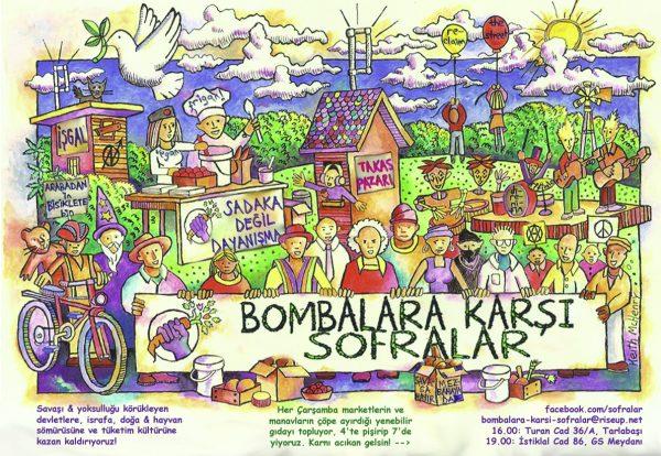 Bombalara Karşı Sofralar'dan Gezi Parkı'nda permakültür atölyesi