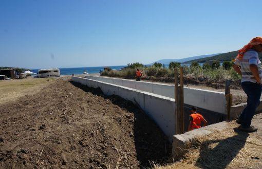 Balık çiftliği için 1. derece doğal SİT alanına beton boru döşediler