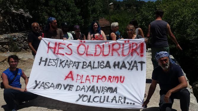 Yaşam ve Dayanışma Yolcuları Manavgat'tan haykırdı: HES öldürür, HES'i kapat balığa hayat!