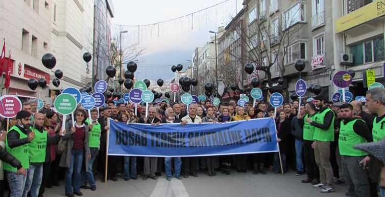 Dosab Termik Santrali projesine Bursa disindan da itiraz ediyoruz!