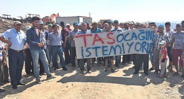 İzmir'de köylüler isyanda: Taş ocağı istemiyoruz