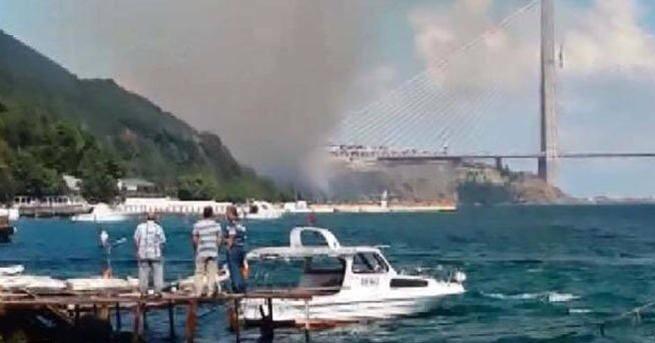 3. Köprü bitti, yol kenarında orman yangınları başladı!