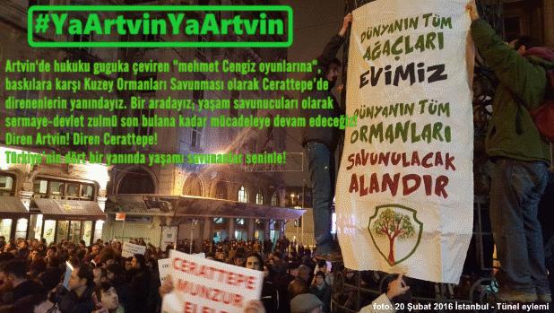 """""""Mehmet Cengiz oyunlarına"""" karşı #YaArtvinYaArtvin!"""