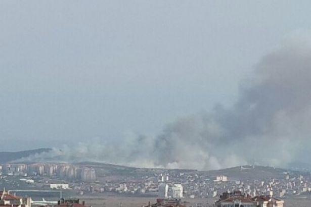 İstanbul'da askeri arazilerde eş zamanlı yangın