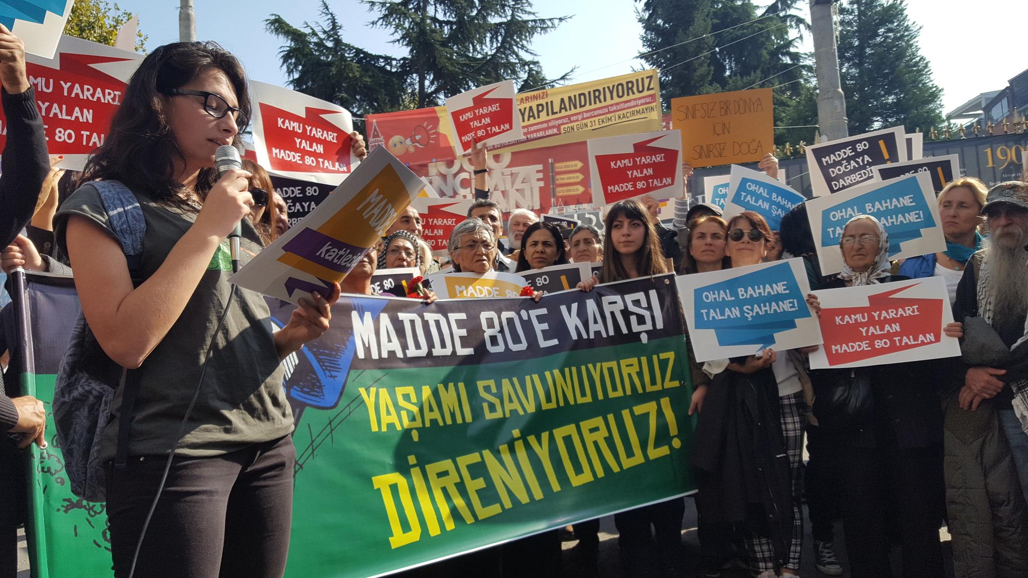 Yaşam savunucuları tek ses: #Madde80iİstemiyoruz!