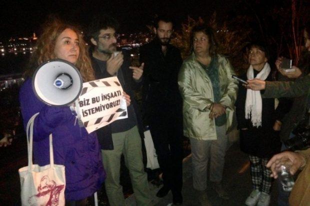 Roma Parkı'nda yıkıma karşı forum düzenlendi