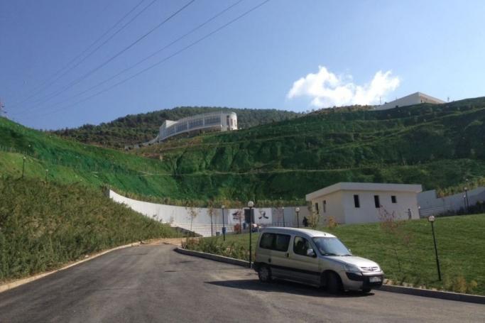 """Açılışını yapacakları """"rekreasyon"""" alanını yeşile boyadılar"""