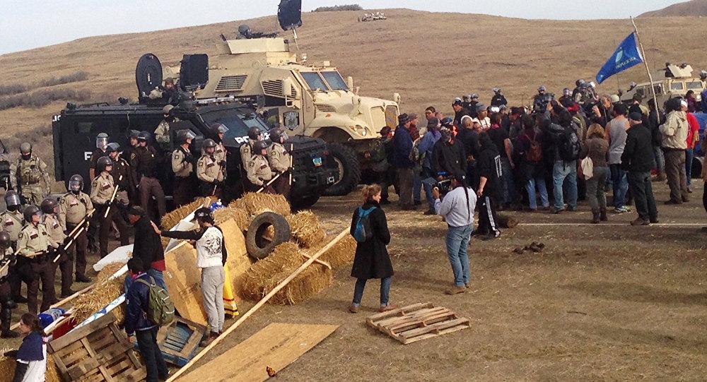 Dakota boru hattı eyleminde toplu gözaltı