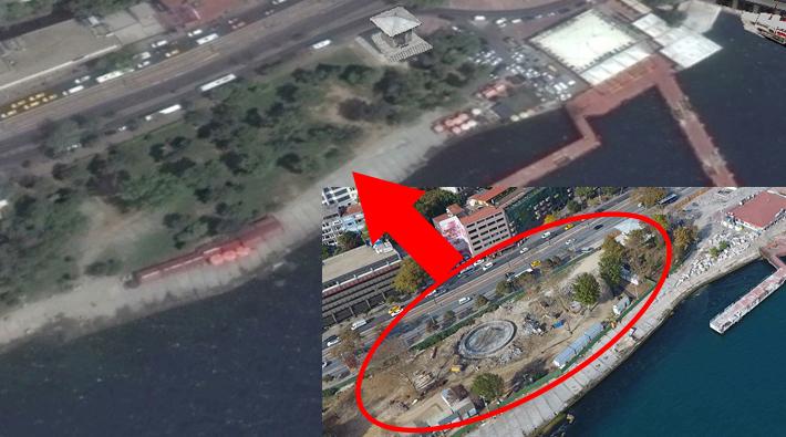 Kabataş projesi havadan görüntülendi: Fındıklı'da tüm ağaçlar kesildi, sahil betona gömüldü!