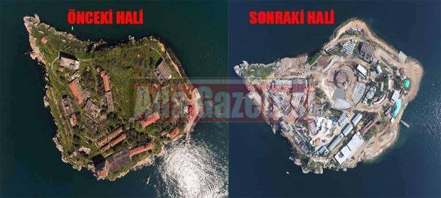 AKP, Yassıada'yı yok etti: Bütün ağaçlar kesildi!