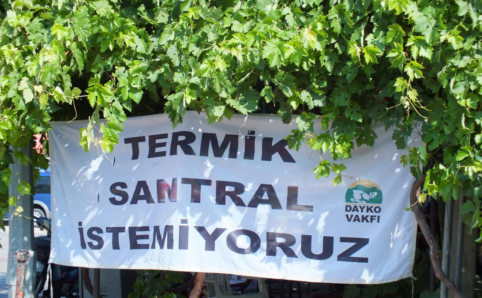 DAYKO Vakfı: Trakya termik santraller istemiyor