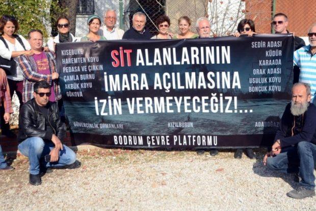 Bodrum'dan SİT alanlarının imara açılmasına tepki