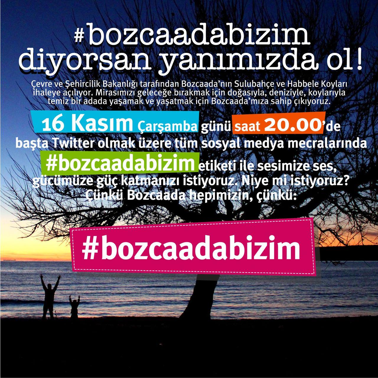 Bozcaada Forum desteğe çağırıyor: #BozcaadaBizim