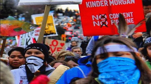 Kanada: Binler Kinder Morgan boru hattının genişletilmesine karşı yürüdü