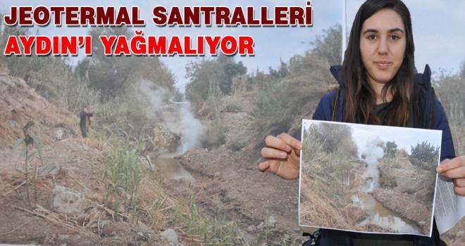 Jeotermal santralleri Aydın'ı yağmalıyor