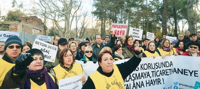 'Koruyu Koru' diyenler bir araya geldi: Validebağ gönüllülerinden basın açıklaması