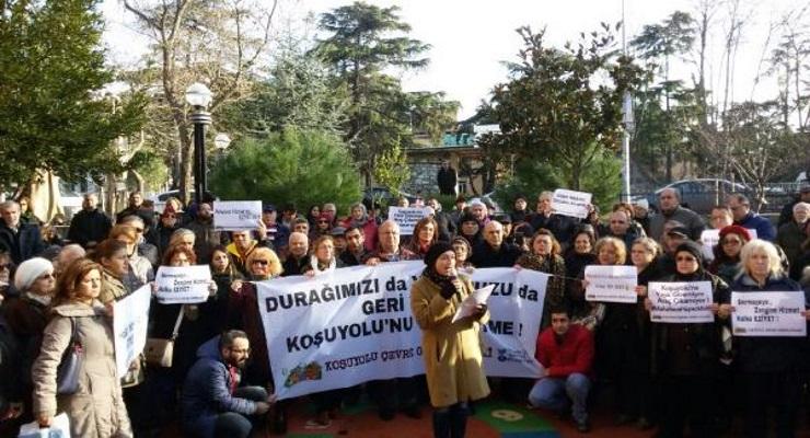 Koşuyolu'nda Avrasya Tüneli düzenlemesine tepki: Başımıza bir şey gelirse sorumlusu sizlersiniz