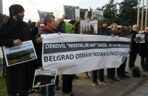 KOS'tan Dekovil Hattına Karşı Eylem: Belgrad Ormanı Raylarla Bölünemez