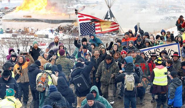 Kuzey Dakota Petrol Boru Hattı protestosuna müdahale