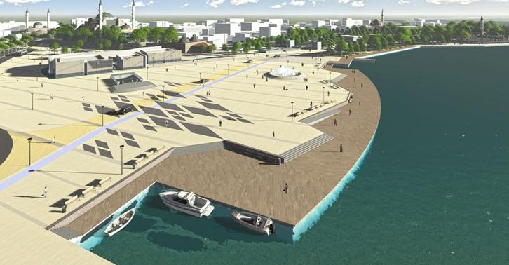'Çevre' Betonlama Bakanlığı; İkibin yıllık Üsküdar'da denizi betonla doldurma projesine 'ÇED gerekli değil' raporu verdi.