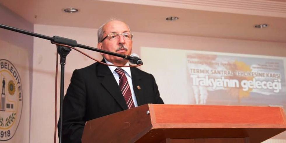"""Tekirdağ Belediye Başkanı Albayrak: """"Çerkezköy'ümüzün, Tekirdağ'ımızın, Trakya'mızın yok olmasına göz yummayacağız"""""""