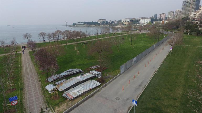İstanbul Büyükşehir Belediyesi, Fenerbahçe sahiline tenis kortları ve kafeterya yapma projesini iptal etti