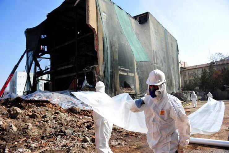 Ankara'daki asbestli havagazı fabrikasının yıkımı durduruldu
