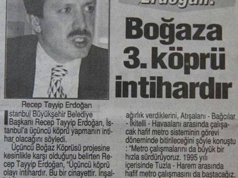 Recep Tayyip Erdoğan: 3. Köprü akciğerlerimizi yok edecek, yeni rant alanları sağlayacak