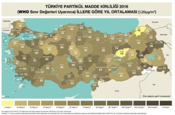 İşte Türkiye'nin il il hava kirliliği raporu: Nefes alacak bir kaç yer kaldı