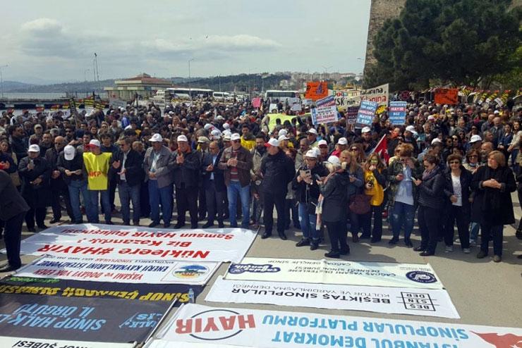 Sinop'ta hayırlı miting