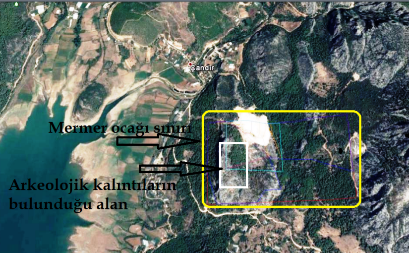 Isparta'da uydudan bile görünen tarihi kalıntıların bulunduğu alana mermer ocağı ruhsatı verdiler