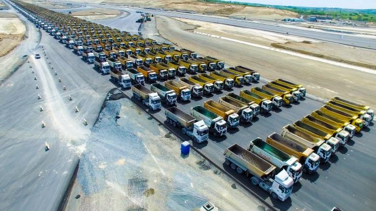 Kuzey Ormanları'nı tahrip eden üçüncü havalimanı şirketinden 1453 kamyonluk 'İstanbul'un fethi konvoyu'