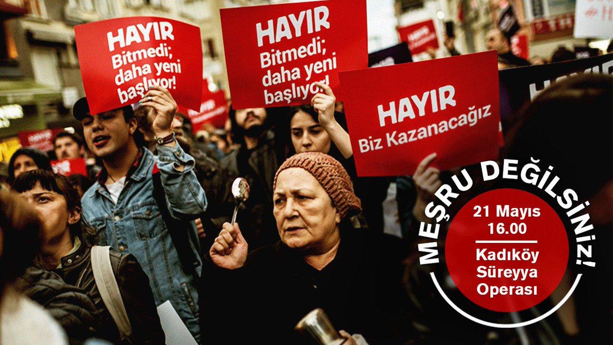 Hayır Meclisleri Pazar 16.00'da Kadıköy'e çağırıyor