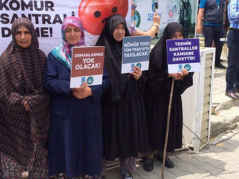 Trakyalı kadınlar: Yaşam alanımızda termik santral istemiyoruz
