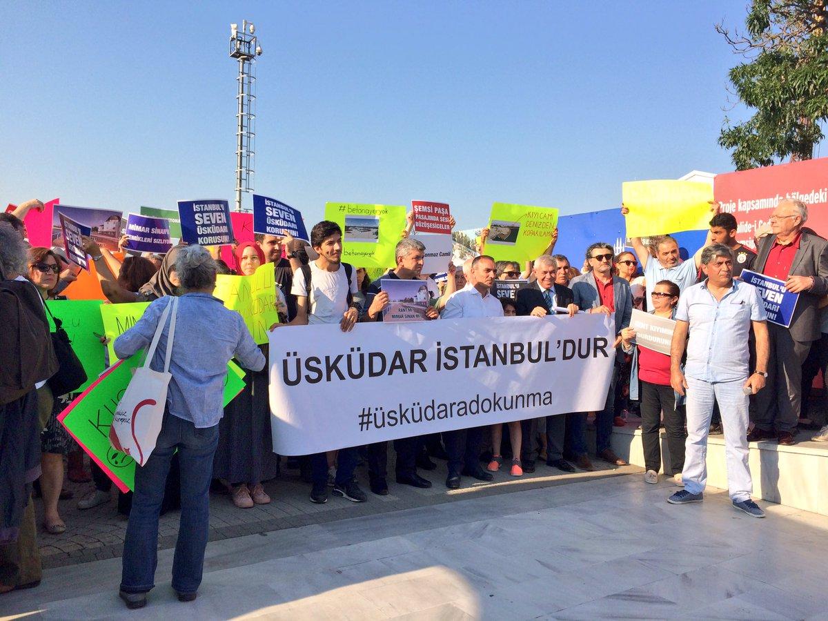 Üsküdarlılar: Şemsi Paşa Cami'sini çatlatan 'beton dolgu' projesi derhal iptal edilsin!