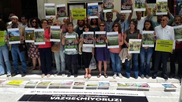 Kadıköy'de eylem: Zeytin yaşamdır, yaşamı savun