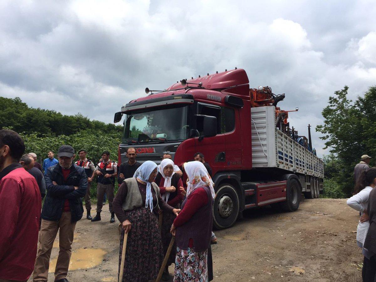 Ordu Kirazbelli Köyü maden sondajına direniyor