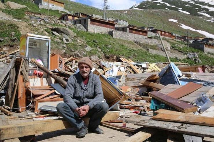 Yeşil Yol'a onay, yayla evine ret: Yukarı Kavrun'da yıkılan evlerin yeniden yapımına izin yok