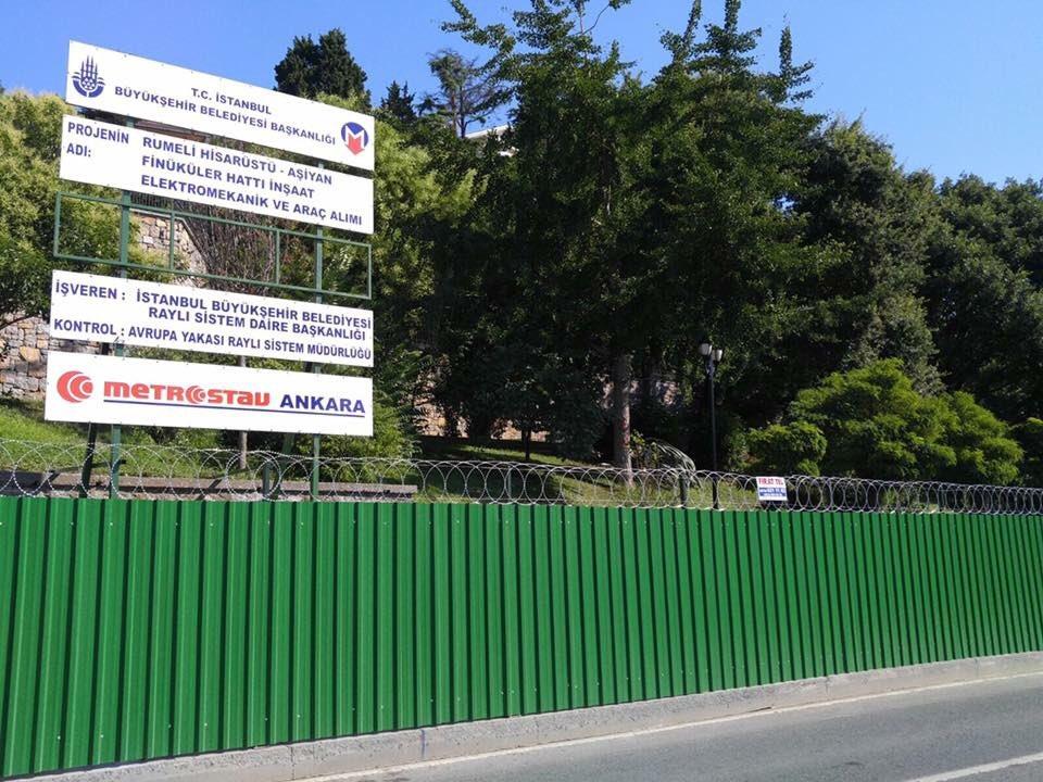 Aşiyan Parkı'na veda mı? : Etrafı çevrildi, tabela asıldı, ağaçlar işaretlendi