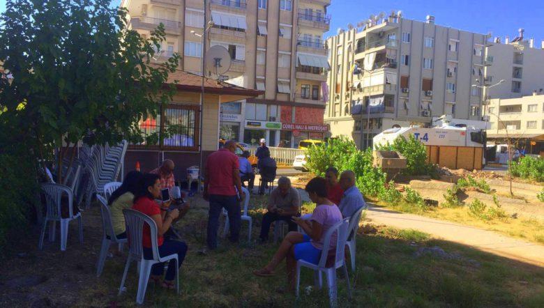 Menderes Türel referandumu tanımadı: Göçmen Parkı'na polis ve iş makineleri girdi