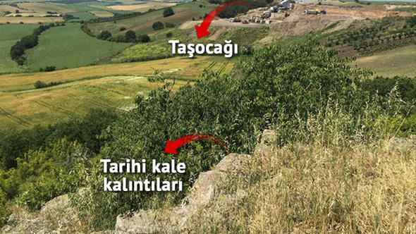 Tekirdağ'da 2000 yıllık kaleyi taş ocağına feda ettiler! #DüşmanYapmaz