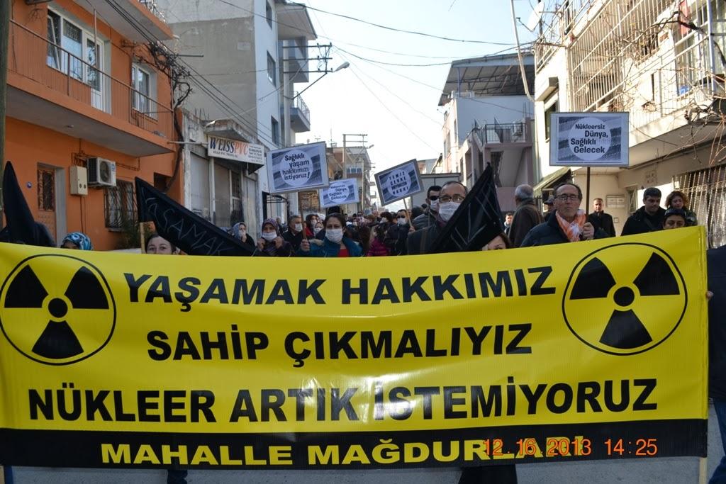 """""""Gaziemir'de bulunan nükleer atıkların geri dönüşümüne izin verilmesi yeni facialara yol açabilir"""""""