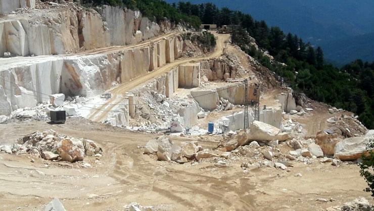 Öldürülen Büyüknohutçu çiftinin iznini iptal ettirdiği halde faaliyete devam eden bir mermer ocağı kapatıldı