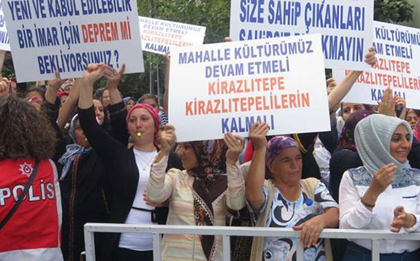 Çevre Bakanı Özhaseki geldi, Üsküdar'da yıkım protestosuna polis saldırdı