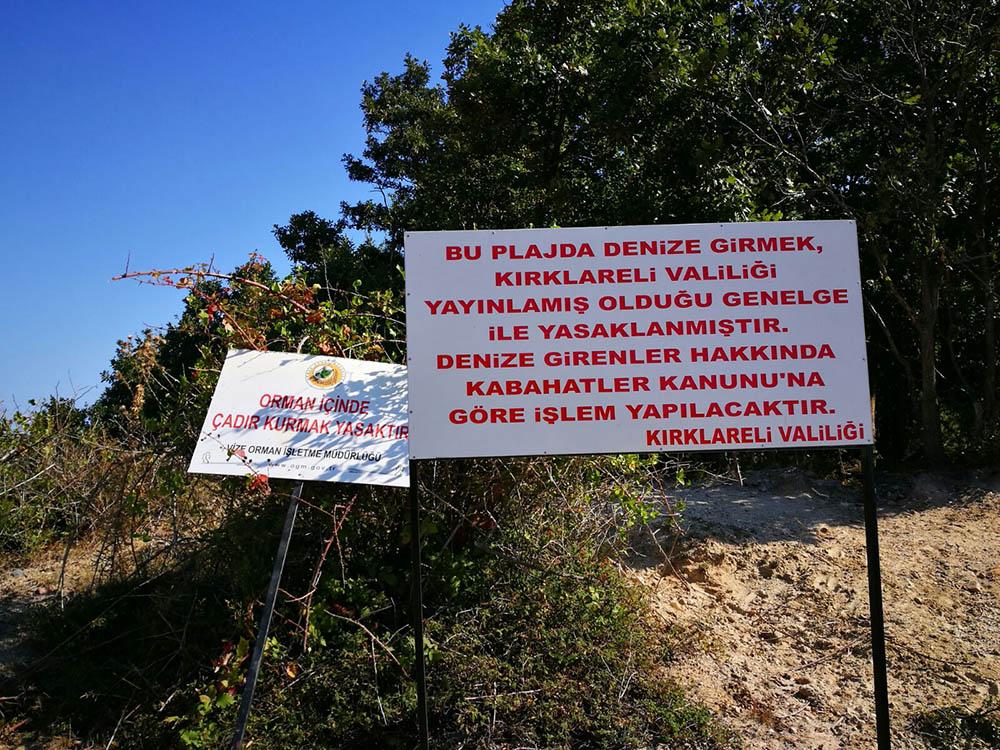Kıyıköy'ün en güzel koylarından biri olan Selvez Koyu, Türk Akımı projesi sebebiyle halka kapatıldı!