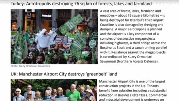 GAAM leaflet highlights five anti-aerotropolis campaigns
