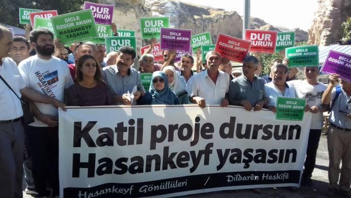 Yaşam savunucuları Hasankeyf'te: Dicle özgür akacak